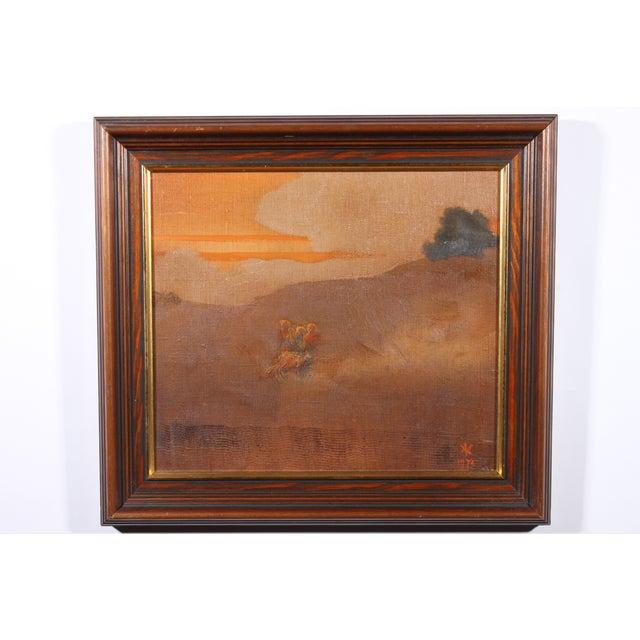 Image of 1975 Twilight Stroll Impressionist Oil Painting