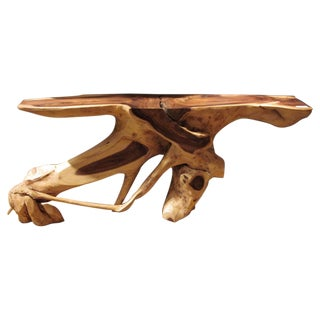 Modern Craftsman Sculptured Console