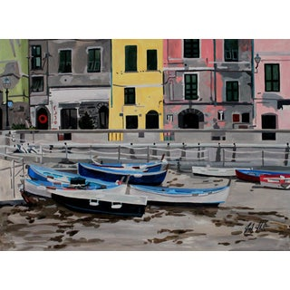 'Boats in Cinque Terre' Giclee Print