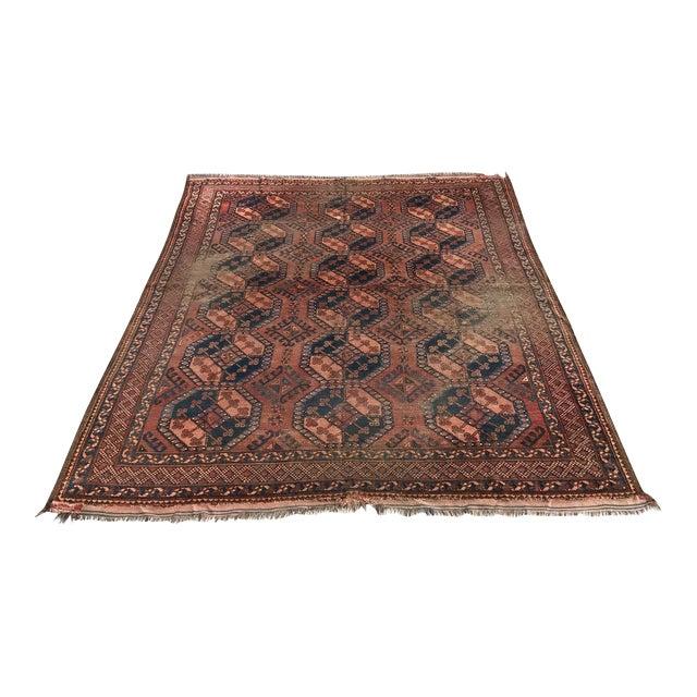 Antique Afghan Rugs: Vintage Afghan Bokhara Rug -7′2″ × 9′11″
