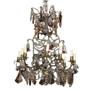 French Crystal and Amethyst Chandelier