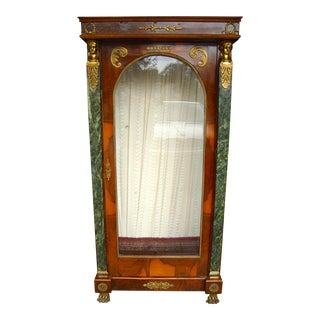 Vintage Empire Style Vitrine Display Cabinet,Curio