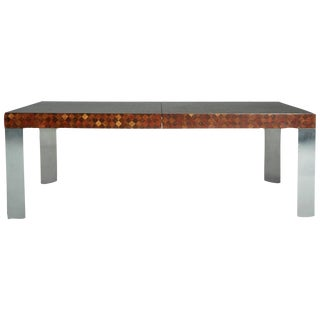 Vintage Paul Evans Patchwork Wood Dining Table
