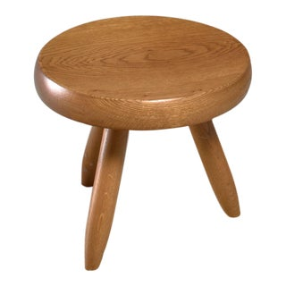 Charlotte Perriand low oak stool, France, 1960s