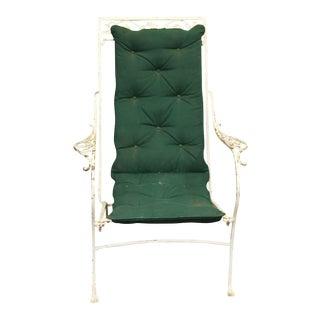 Iron White Garden Chair