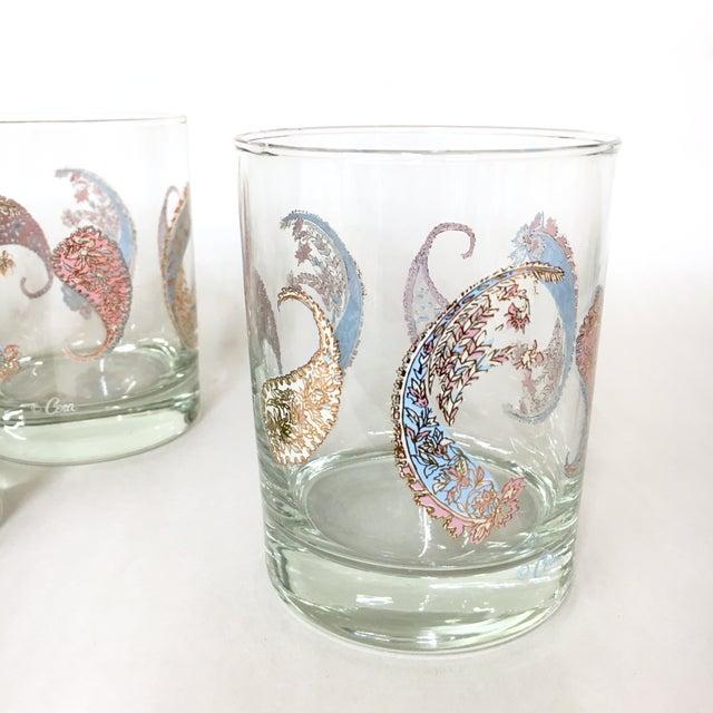 Vintage Cera Pastel Paisley Rocks Glasses - Set of 4 - Image 5 of 5