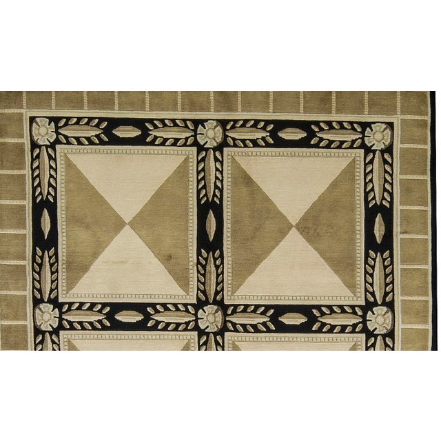 """Contemporary Hand-Woven Rug - 6'2"""" x 9' - Image 2 of 3"""