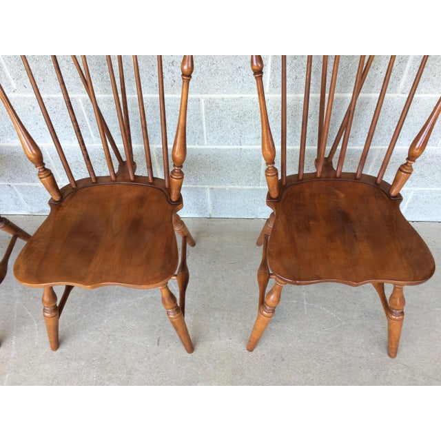 Tell City Maple Windsor Brace Back Dining Chairs Set Of
