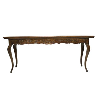 French Country Fruitwood Console Table
