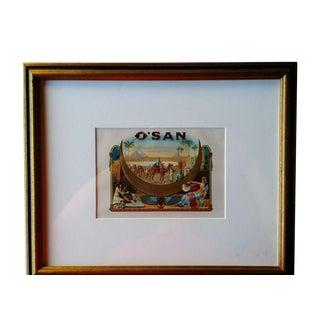Framed O'san Cigar Box Label