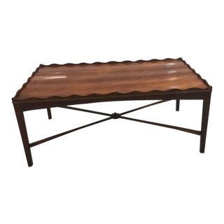 English Tulip Coffee Table With Ebony Inlay