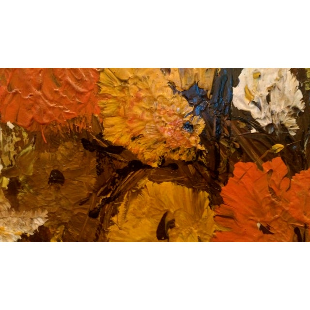 """Mid Century Floral Painting - Signed """"Clare"""" - Image 4 of 10"""