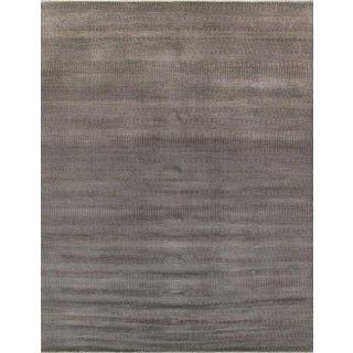 """Transitional Gray-Brown Lambswool Rug - 9' x 11'8"""""""