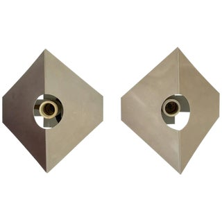 Metal Sconces in the Style of Max Sauze - A Pair