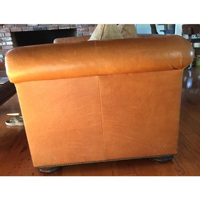 Ralph Lauren Leather & Linen Sofa - Image 4 of 5