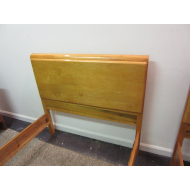 Mid-Century Wakefield Style Twin Beds - A Pair - Image 6 of 11