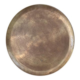 Brass Floral Etched Tray