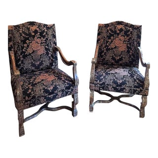 Louis XIV Stately Chairs - a Pair