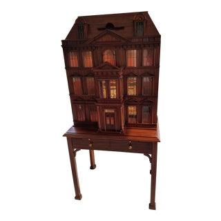 Maitland Smith Mahogany Two-Piece Bar Cabinet