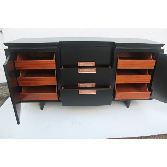Restored Mid-Century 9-Drawer Credenza - Image 9 of 11