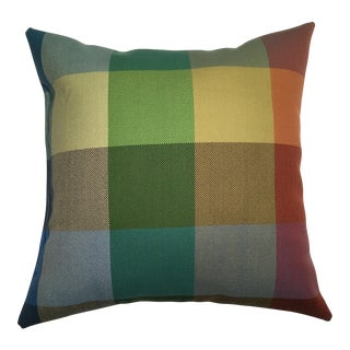 Pillow in Colorado Plaid Fabric by Alexander Girard for Herman Miller
