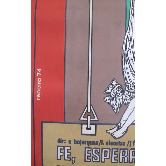 1974 Cuban Movie Poster, Fe, Esperanza y Caridad - Image 4 of 5