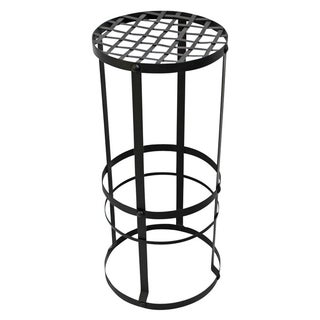 Industrial Woven Iron Bar Stool
