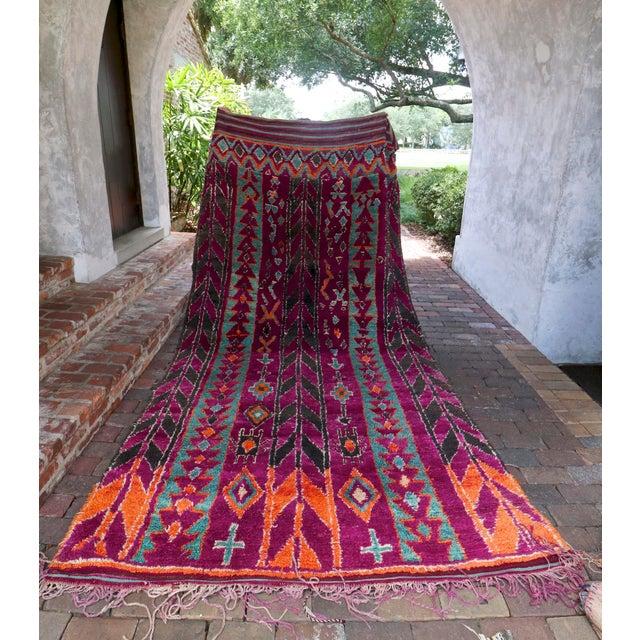 Vintage Moroccan Purple & Teal Talsint Rug - 5′12″ × 11′2″ - Image 2 of 7