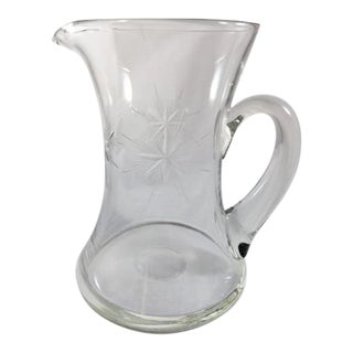 Mid-Century Blown Glass Starburst Pitcher