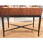 Image of Mid-Century, Signed Kittinger Faux Bamboo Side Table