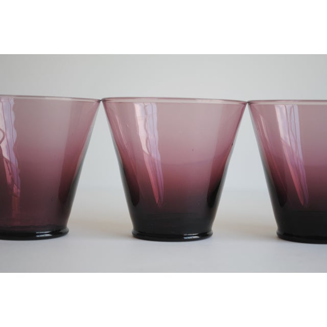 Amethyst Cordial Glasses, Set of 5 - Image 5 of 5