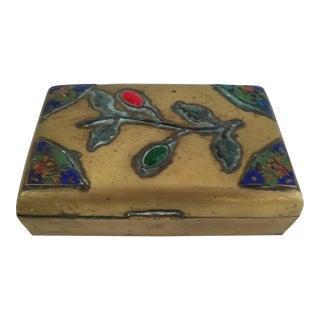 Vintage Brass Box With Stones