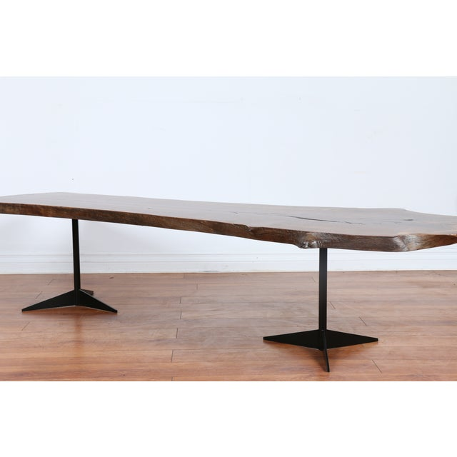Solid Walnut Wood Slab Coffee Table - Image 4 of 10
