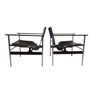 Charles Pollock for Knoll 657 Arm Chairs - A Pair