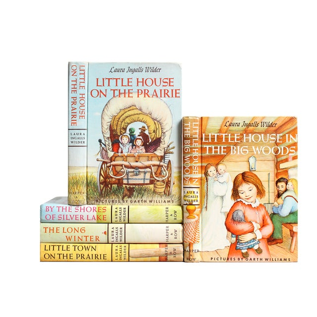 Laura Ingalls Wilder Book Stack - S/5 - Image 1 of 2