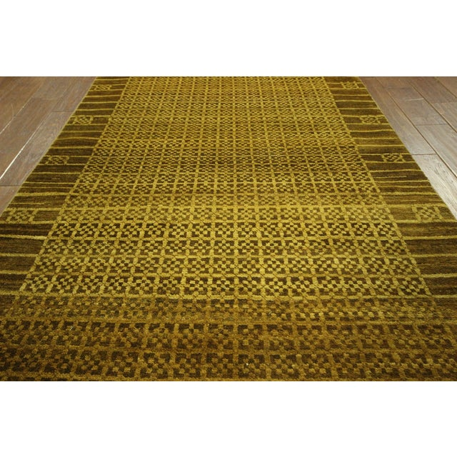 """Oriental Traditional Oushak Rug - 4'1"""" x 5'7"""" - Image 5 of 7"""