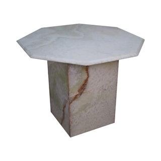 Mid-Century Onyx Octagon Top Pedestal Center Table