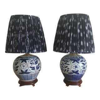 Chinoiserie Ginger Jar Lamps - A Pair