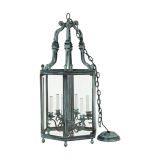 Large Glass and Brass Lantern