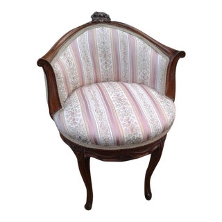 19th Century Louis XV Carved Low Back Chair