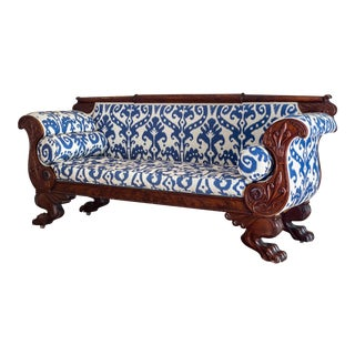 Mahogany Empire Sofa C. 1825