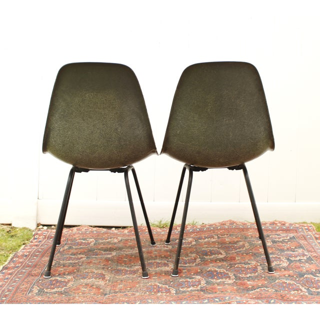 Gray Eames Fiberglass Shell Chairs - A Pair - Image 6 of 10
