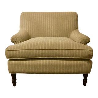 BSC Paris Pinstripe Linen Slipper Chair