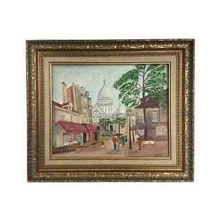 Oil on Canvas Paris Street Scene, Montmartre