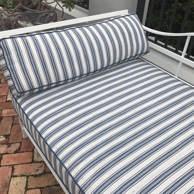 Cast Iron Sunbrella Upholstered Outdoor Daybed - Image 6 of 7