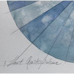 Image of Last Quarter Moon Watercolor Painting