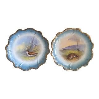 Vintage Barbarin Limoge Plates - A Pair