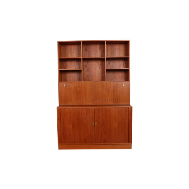 Danish Teak Secretary Tambour Desk by Peter Lovig - Image 1 of 5