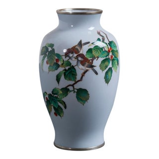 A Japanese Cloisonné Enamel Vase from the Showa Period