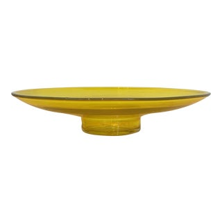 Blenko Yellow Footed Bowl
